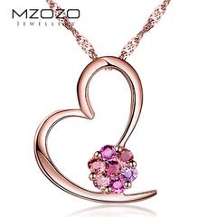 MZOZO/麦珠珠珠宝18K金天然彩色蓝宝石吊坠女款宝石吊坠正品