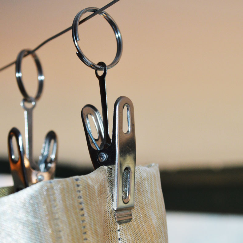 Curtain hooks with rings