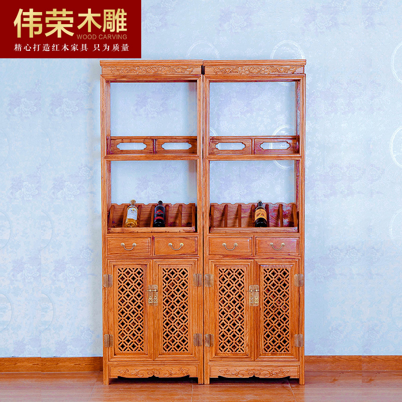 伟荣中式红木酒柜j02