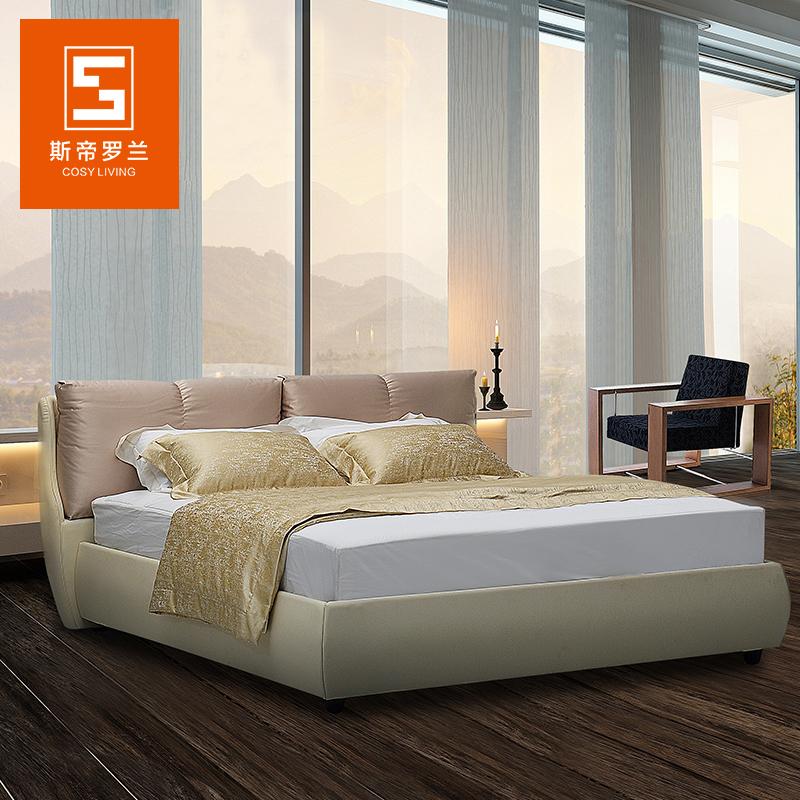 斯帝罗兰现代简约布艺床AK-P020