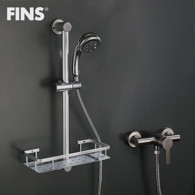 淋浴花洒支架升降杆太空铝花洒花洒置物架
