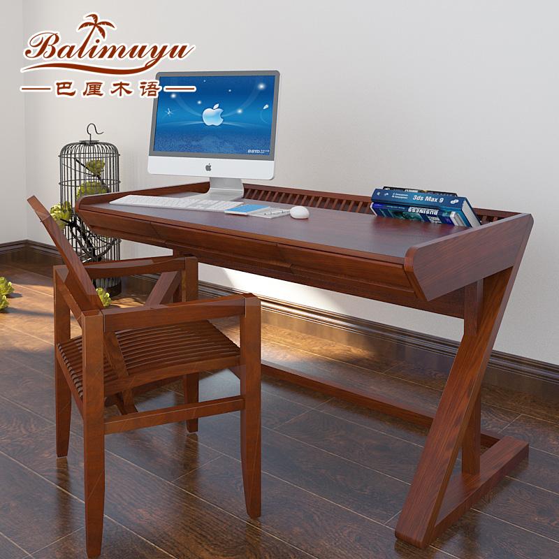 巴厘木语东南亚实木书桌BLBP002