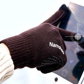 典尚冬季情侣款毛线加绒触屏手套