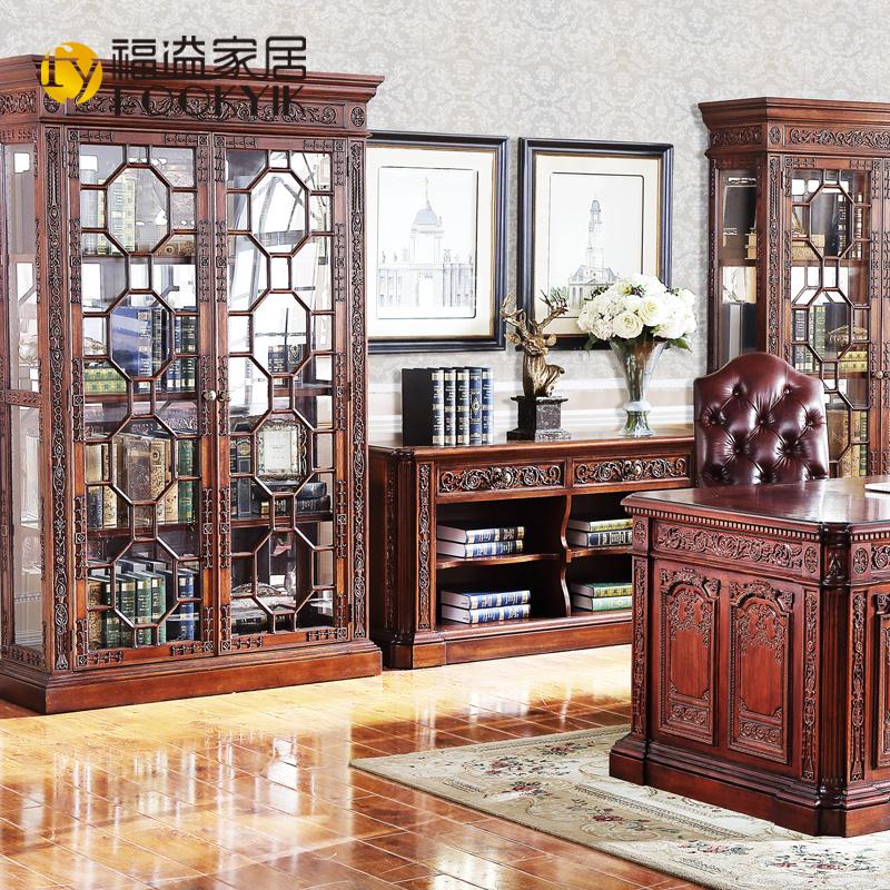 福溢家居美式实木书柜F8601-762