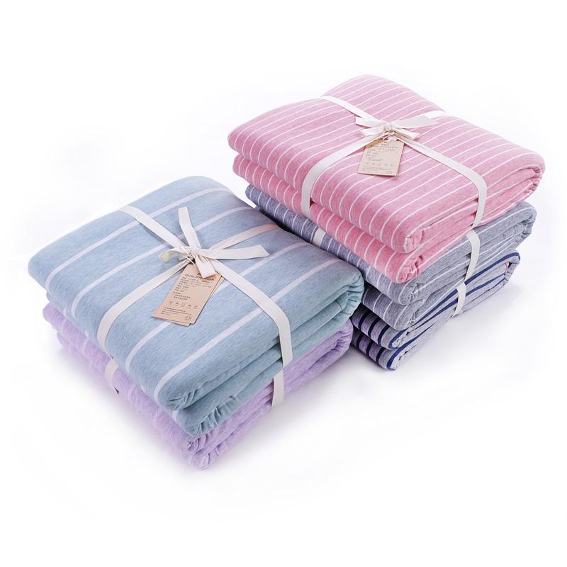 鱼跃针织棉天竺棉双人被单色纺/被套