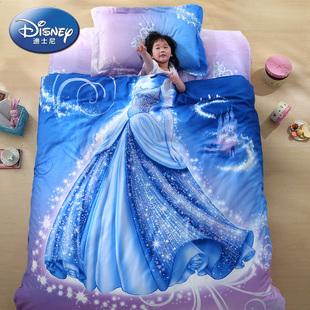 迪士尼罗莱生活出品儿童卡通全棉贡缎床单被套三件四件套件
