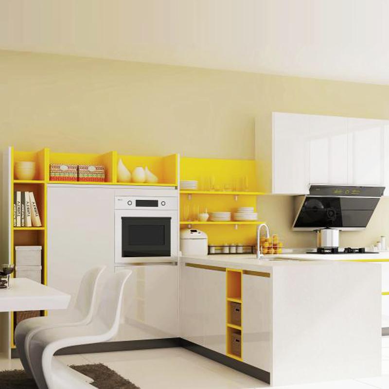 柏厨整体橱柜烤漆现代简约整体厨柜2014022818