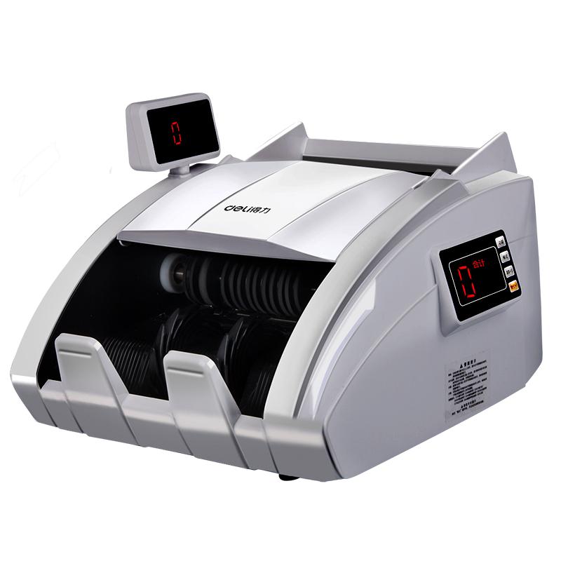 得力验钞机新版人民币银行专用点钞机3927智能语音小型办公家用