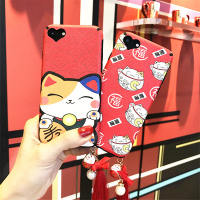 新年招财猫iphone6手机壳硅胶6s个性创意苹果6plus简约女款挂绳sp