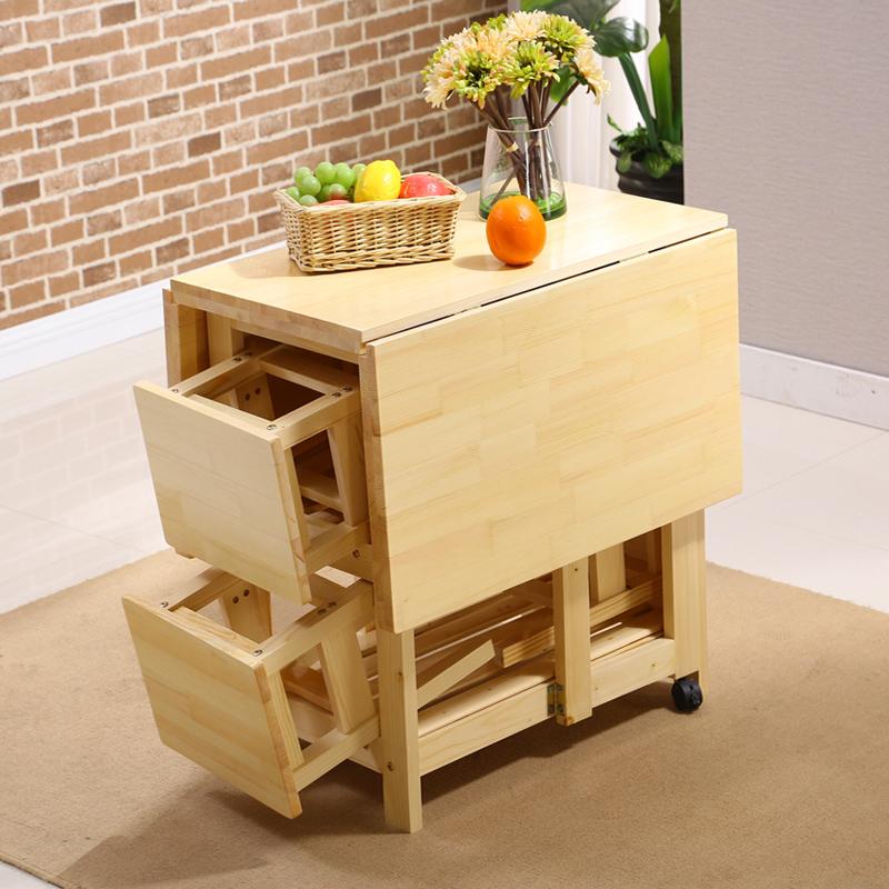 金耀实木折叠餐桌SM001