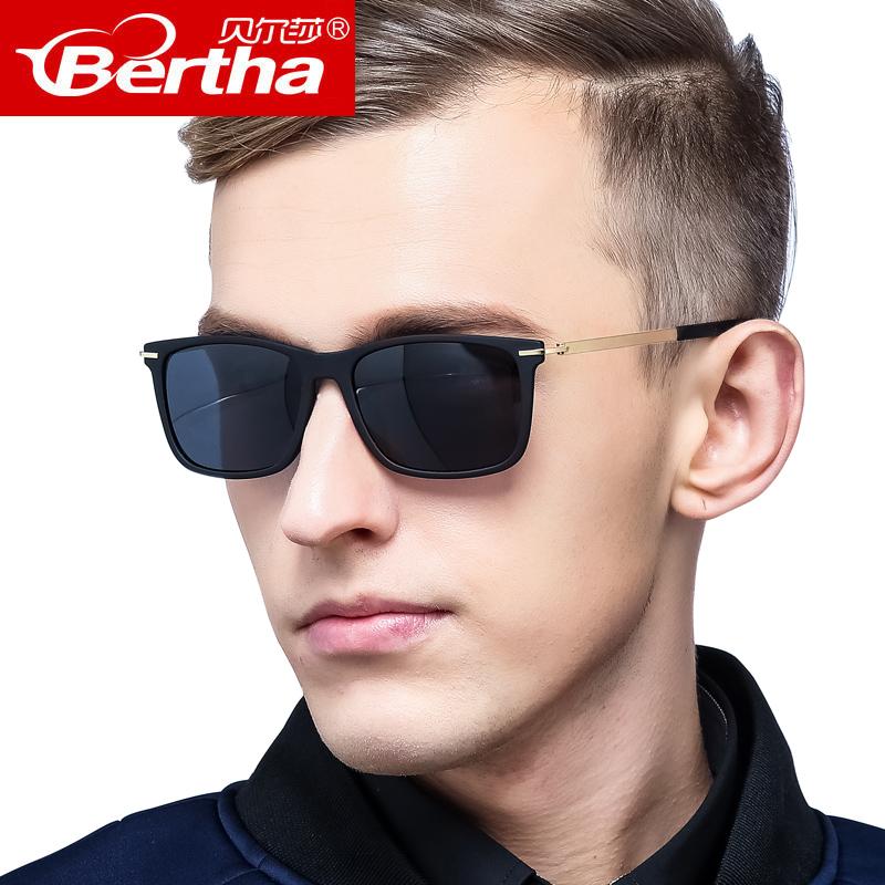 太阳镜男士偏光司机镜驾驶墨镜户外开车眼镜方框长脸可配近视潮人