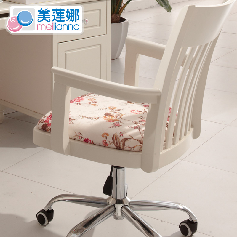 美莲娜家具 韩式田园 书桌 转椅 电脑椅 书椅 实木椅子家用特价