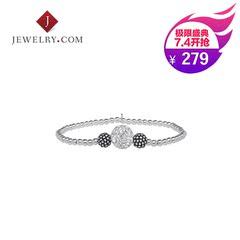 JEWELRY.COM 925银镶施华洛世奇水晶清新气质女款珠串手链