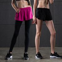 运动短裤女跑步速干瑜伽短裤冬季薄款显瘦宽松休闲透气健身运动裤