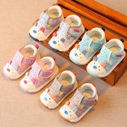 春秋婴儿幼儿软底学步鞋宝宝布鞋子儿童男童女童单鞋小童1-2岁一