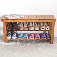 楠竹子鞋架储物凳子简易收纳多层置物竹制穿换鞋凳鞋柜特价包邮