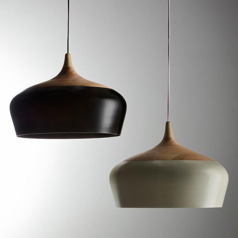 纽思维尔北欧铁艺木头餐桌铝材吊灯