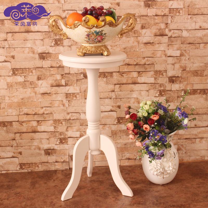 莱茵塞纳欧式木质圆形小茶桌
