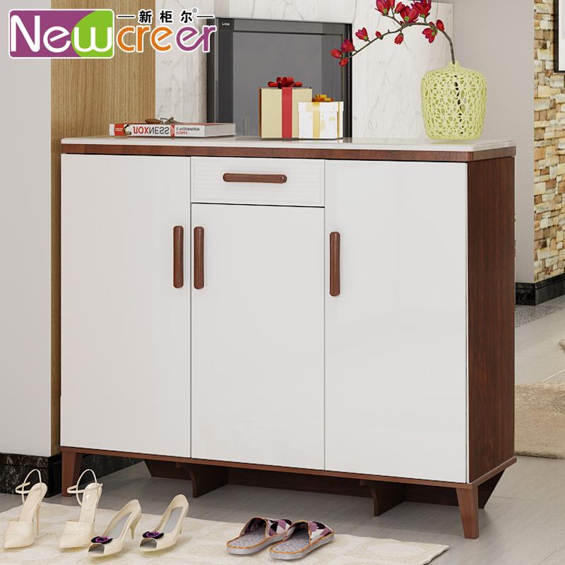新柜尔三门烤漆鞋柜现代简约门H11