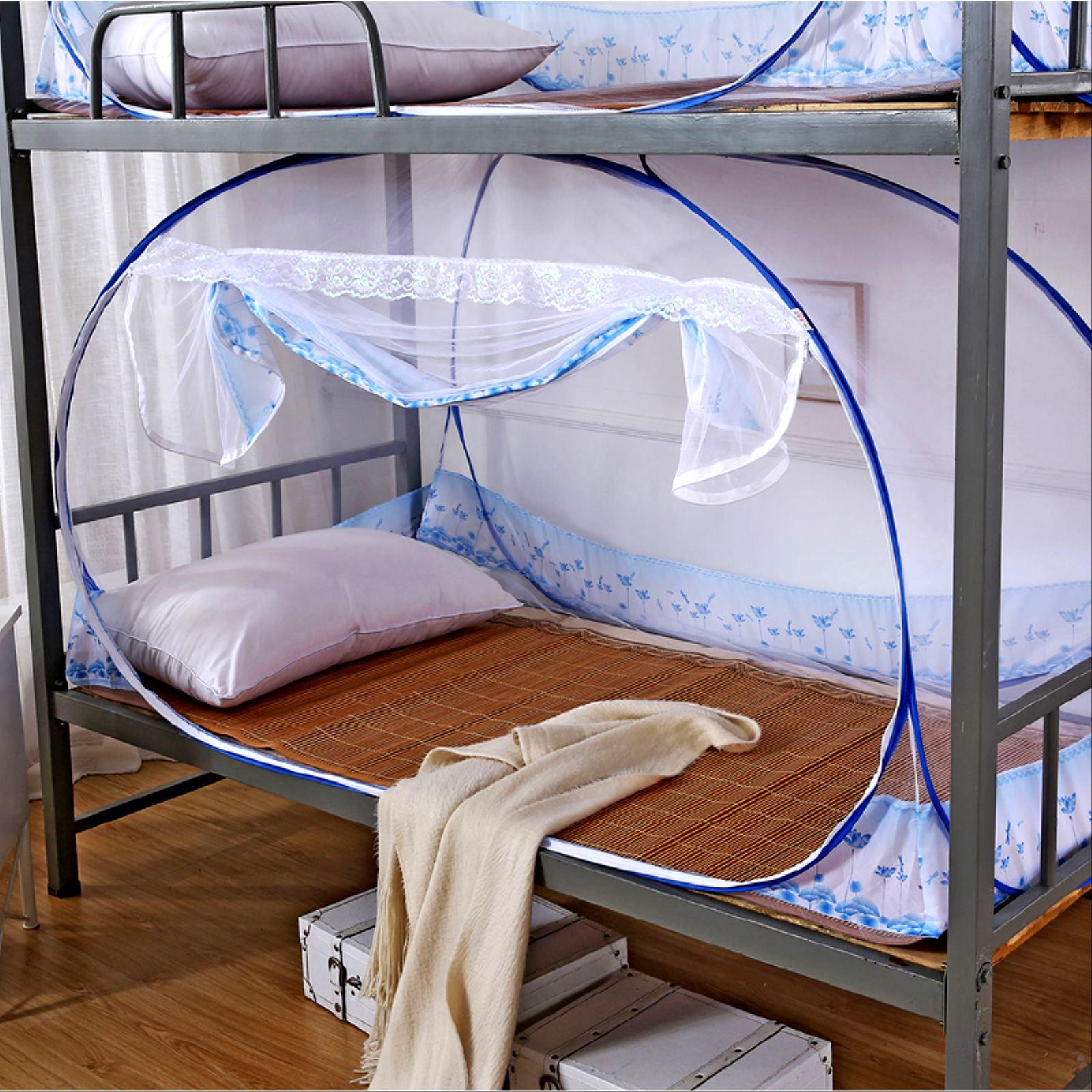 学生宿舍寝室90CM1.0M蚊帐上下铺单人床密封全封闭学校双层纹文帐