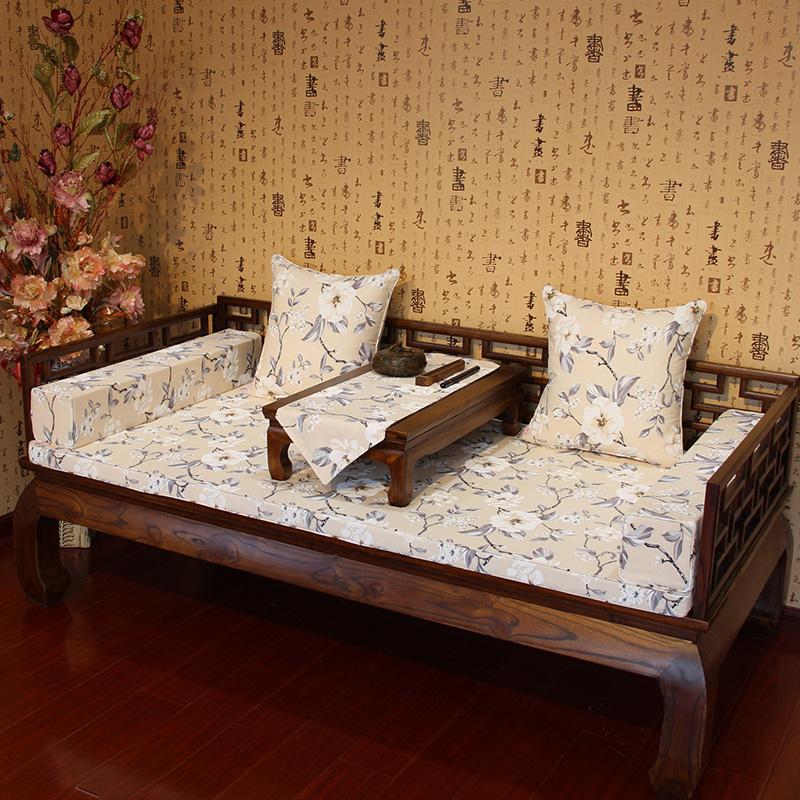 星沁植物花卉中式罗汉床垫子GD-007
