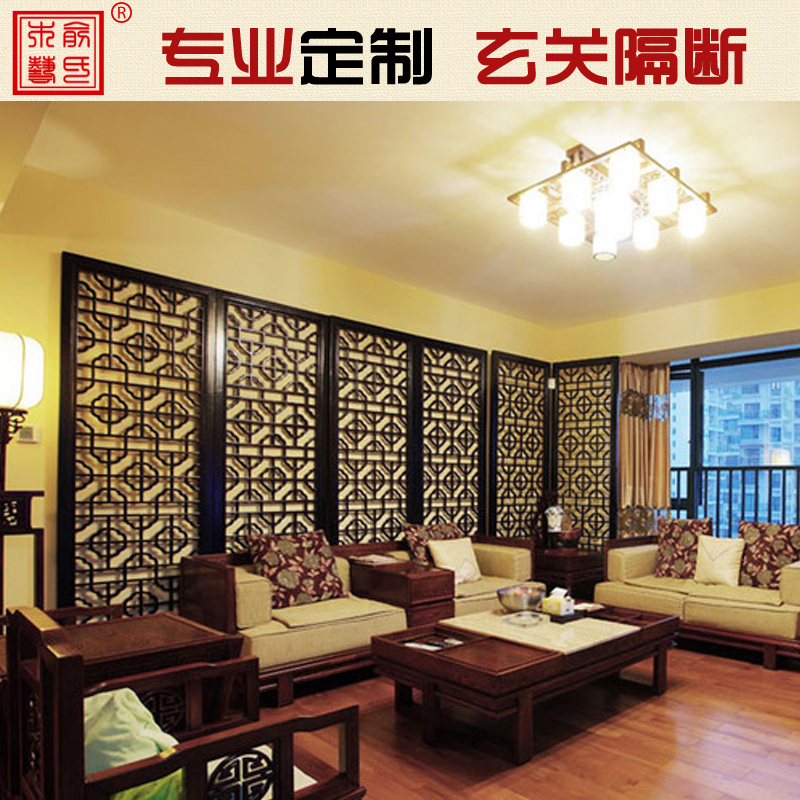 俞氏木艺中式仿古实木门窗YS-DZ742