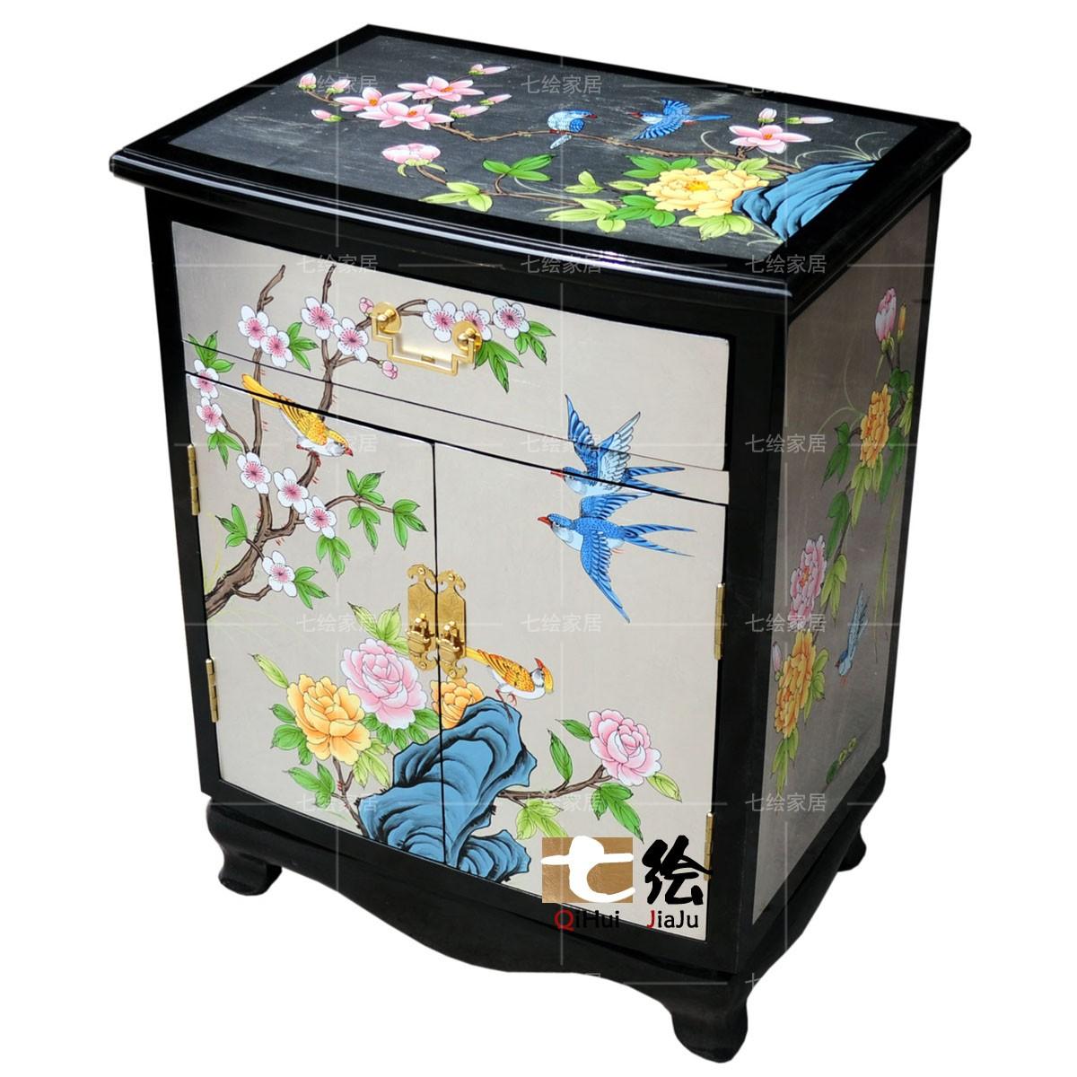 七绘现代新中式简约床头柜q002