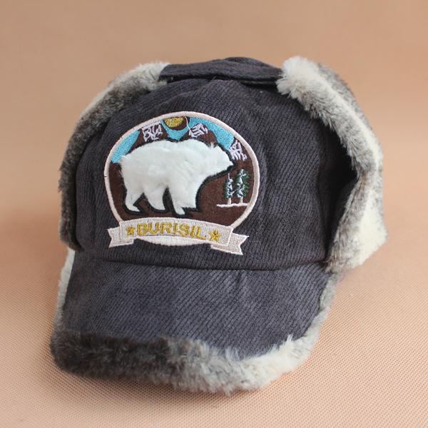 Головной убор 新款秋冬帽子可爱萌物小熊男女棒球帽雷锋帽冬季韩版加厚毛线帽子