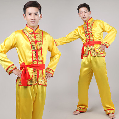 New drum service Yangge clothing men's national dance performance costume dragon dance lion costume inspired clothing