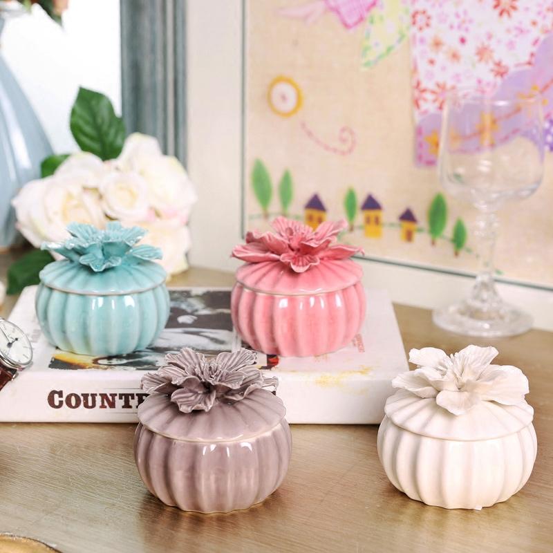 橡树庄园凯利尔陶瓷花朵首饰盒72158