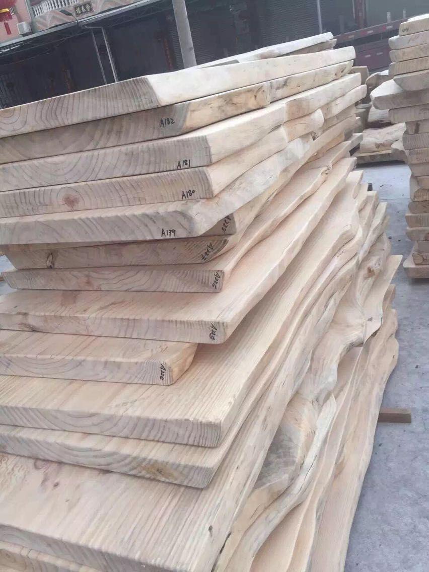 益琳原木不规则桌面板实木大板桌餐桌YL-018