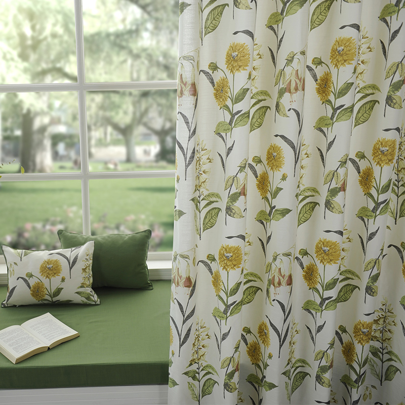 麦卡米美式棉麻布窗帘66221-1巴比松