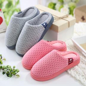 冬季情侣棉拖鞋
