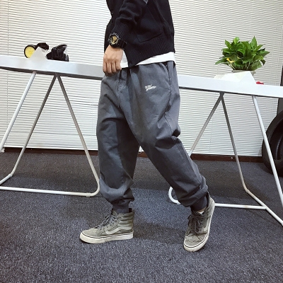 """""""Cheng Xiaomi"""" is simple. Original Street West Coast Embroidery Loosening Trousers Male Tooling Casual Pants"""