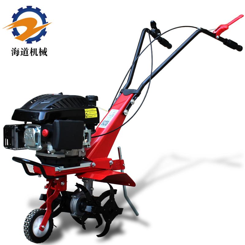 海道微耕机汽油小型松土机5.5马力翻地机多功能田园旋耕机耕地机
