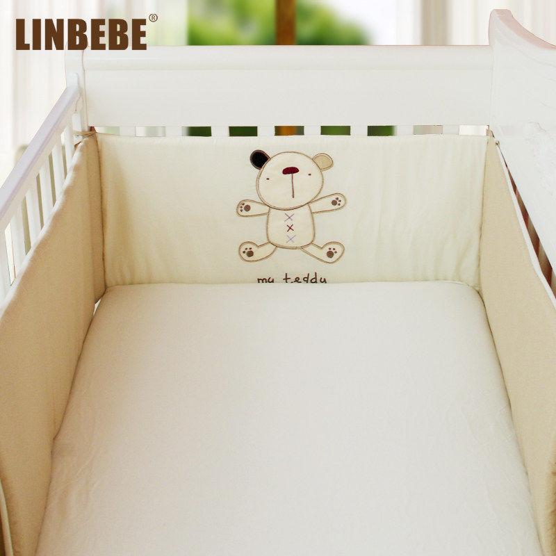 霖贝儿小熊卡通婴儿床品套件0130床品套件