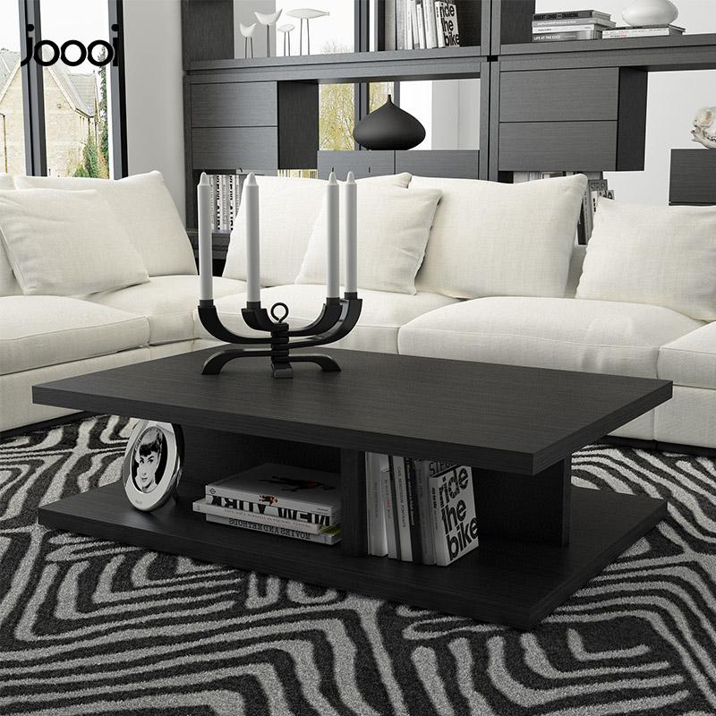 北欧创意黑色茶几长方形现代简约茶桌小户型客厅家具简易茶几桌