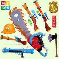 熊出没宝宝玩具套装儿童玩具枪光头强电锯帽子猎枪声光电动男孩