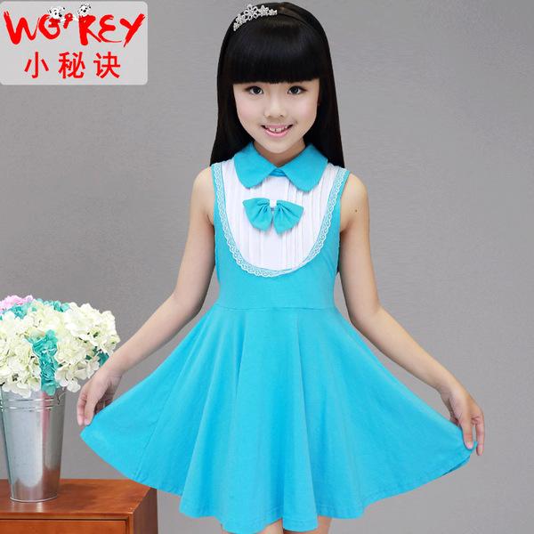 女童连衣裙夏公主裙5 7 9 11 13岁小学生儿童中大童服装女孩裙子 女童