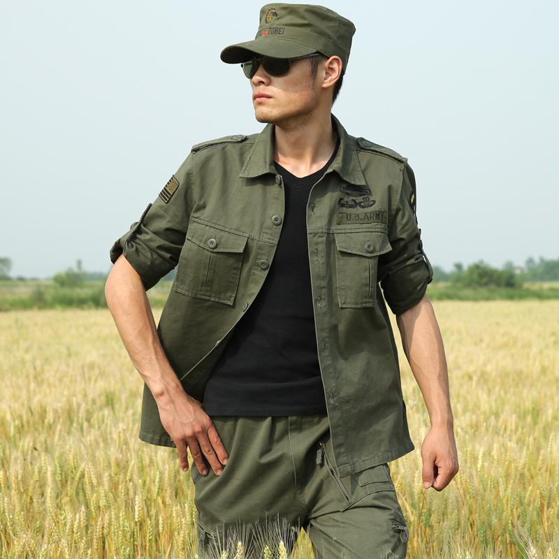 Рубашка милитари Dong lang 107 101
