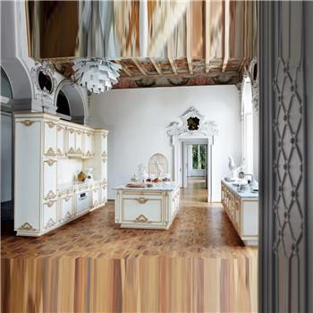 斐然新古典法式实木白色柜开门bp045