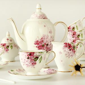 咖啡具套装欧式茶具陶瓷下午茶茶具英式咖啡杯碟套装骨瓷家用