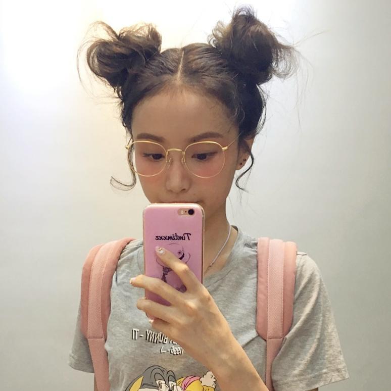 韩版潮复古素颜金丝边眼镜细框女 原宿网红眼镜框林小宅近视框架