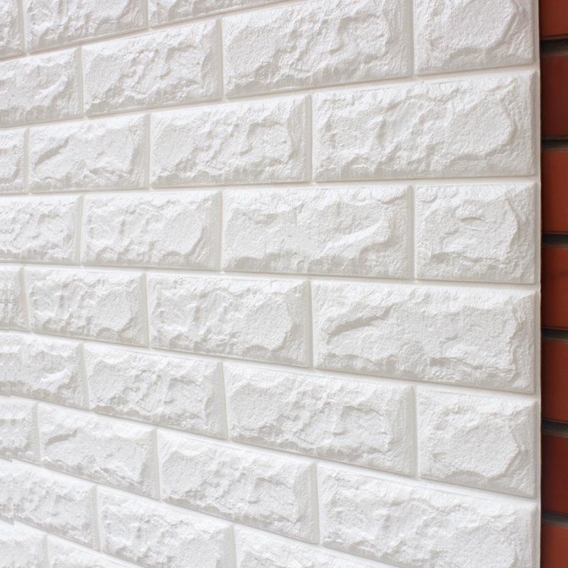 小薇3d立体墙贴长方形立体砖纹