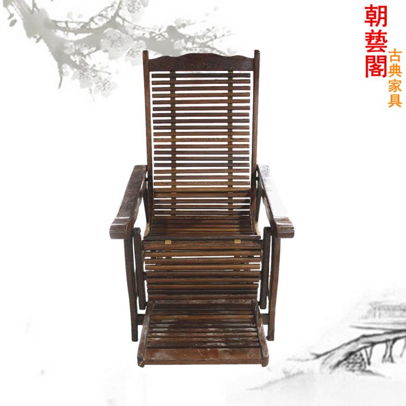 朝艺阁红木家具鸡翅木经典老式躺椅cyg-151