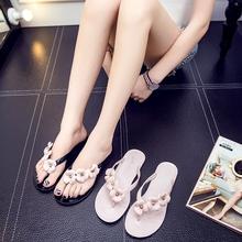 2017夏季新款女时尚沙滩外穿韩版平底百搭人字拖韩国平跟凉拖鞋潮