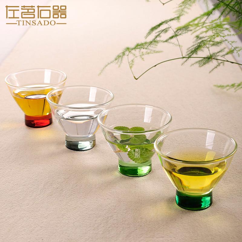 左茗右器彩色耐热玻璃茶杯ZM-2412
