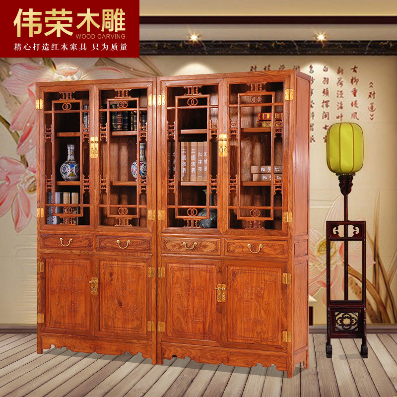 伟荣刺猬紫檀红木书柜g01