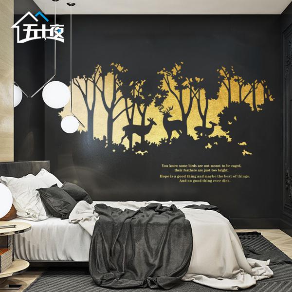 五十夜床头装饰壁画 N829