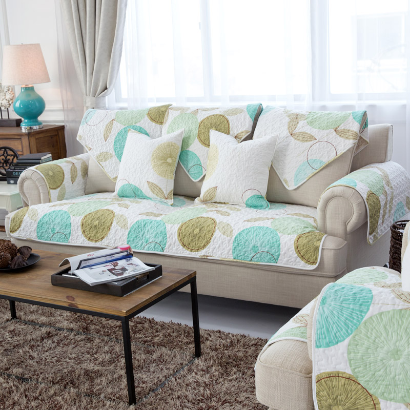 莫耐河北欧田园布艺棉布沙发垫2511